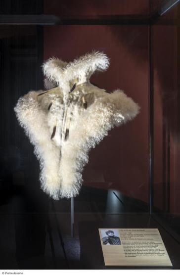 Hermelinkragen som Sarah Bernard bar i slutet av 1800-talet.