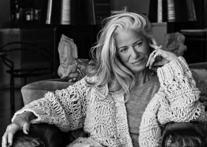 Iris von Arnim, inte modell, men tysk 70-årig modedesigner