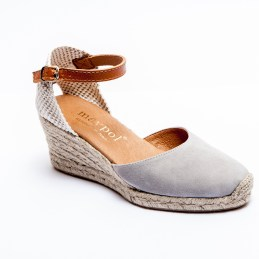 Grey Suede Low Wedge Espadrille.co.uk
