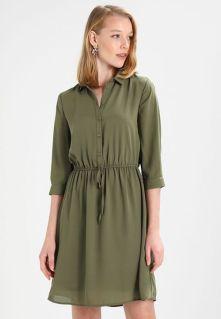 Köp b Essentials b Fina Skjortklänning Dam Outlet - Khaki Billigt 3749