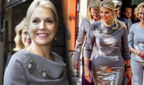 Queen-Maxima-of-The-Netherlands-pictures-spider-brooch-1029422