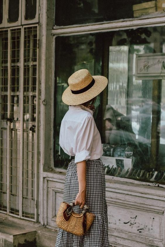 Timeless and Feminine Outfit_ White Shirt & Gingham
