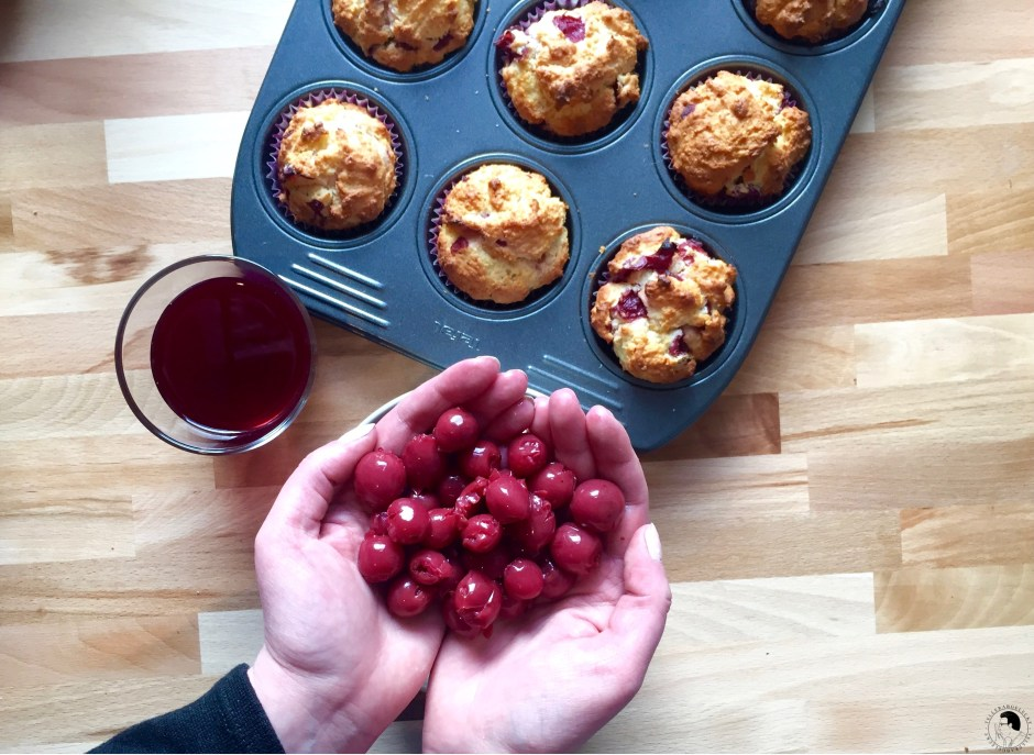 kirsch kokos muffins