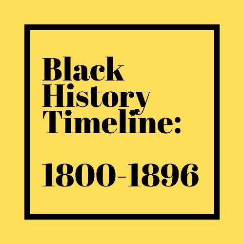 Black History Timeline: 1800-1896