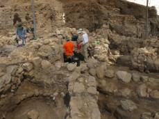 Excavating EB III layers, Area E, 2011