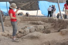 View of excavation in Area E, 2013