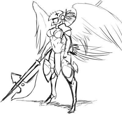 Avarian Female Followup Sketch