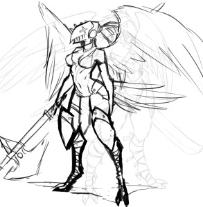 Avarian Female Initial Sketch