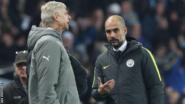 Pep Guardiola (right) and Arsene Wenger