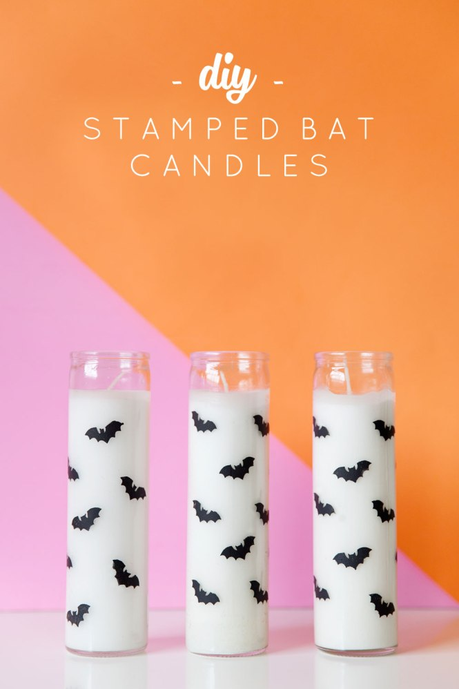 Diy Stamped Bat Candles Tell Love And Party