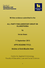 Click here to View APPG Report Online Islamophobia