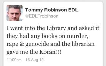 Tommy Robinson Quran