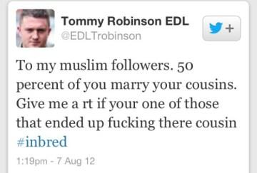 Tommy Robinson Muslim inbreeding
