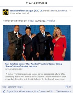 Abuse at Obama, Jewish Defence League