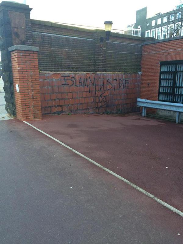 Anti-Muslim Graffiti Birmingham