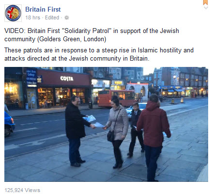 Britain First Golders Green
