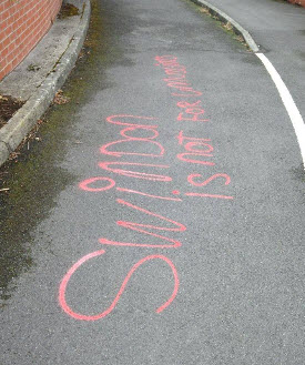 Swindon not for Muslims graffiti