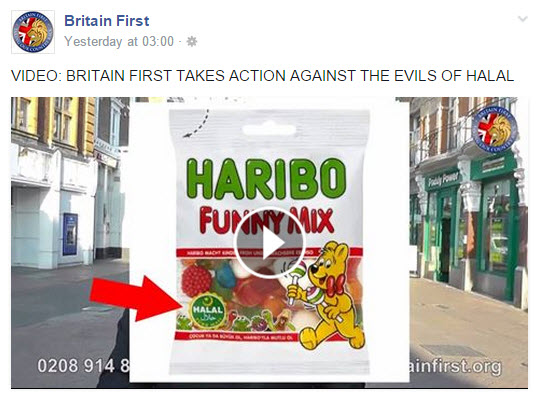 Haribo sweets and Britain First