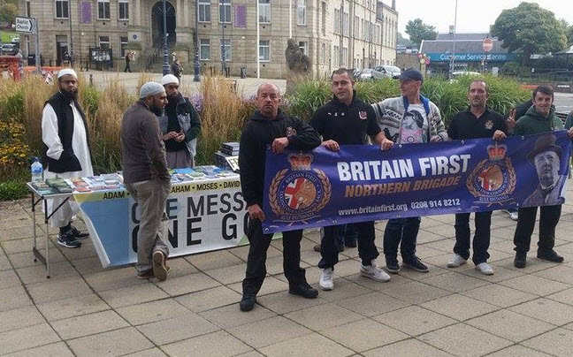 The Only Extremists We See Are the 'Britain First' Sympathisers Here