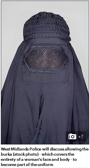 The first use of the burqa stock image. Published by MailOnline on September 9, 2016.