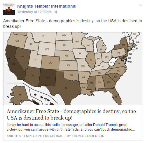 Knights Templar International Facebook Page & Web-Site Are Extremely Concerning