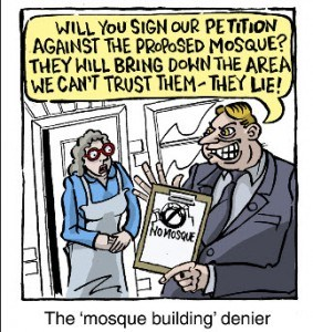 The 'mosque building' denier
