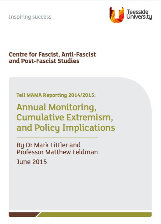 TELL MAMA 2014/2015 Findings on Anti-Muslim Hate