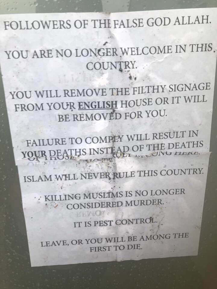 Anti-Muslim Hate Letter Shakes Family in South London