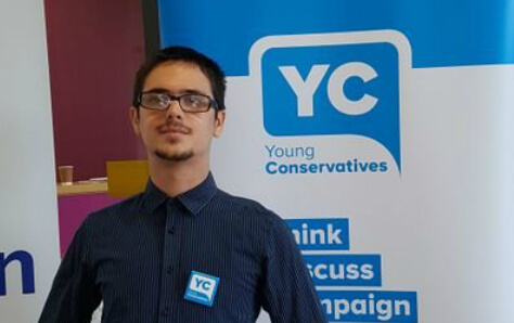Member of Young Conservatives said Tommy Robinson was 'right'