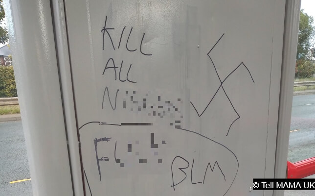 'Kill All N******': violent, racist graffiti appears on bus stop in Leeds