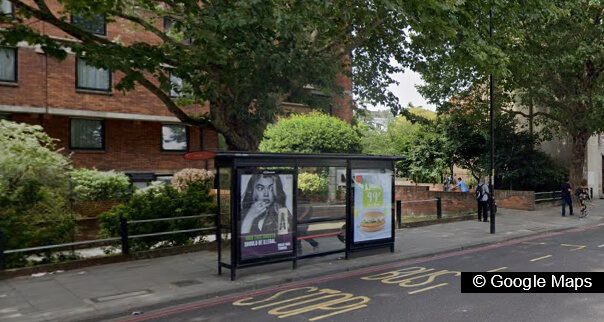 Upstander removed neo-Nazi sticker near bus stop in south-west London