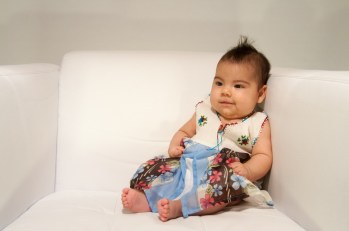 Wearing a dress given to Erika in Turkey when Arianna was about 3 months in-utero.