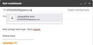 Skicka SMS direkt från mejlen med hjälp av TellusTalk
