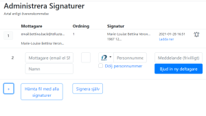 Det går bra att administrera signaturer från vanliga mejlen med hjälp av tellustalk.