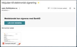 Signeringsinbjudan i mailen