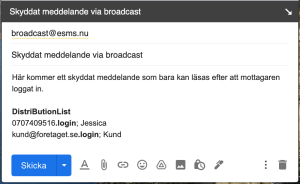 Bild - skyddat via broadcast
