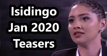 Isidingo February Teasers 2020 on SABC3
