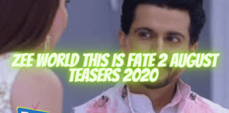 Zee world This is Fate 2 August Teasers 2020