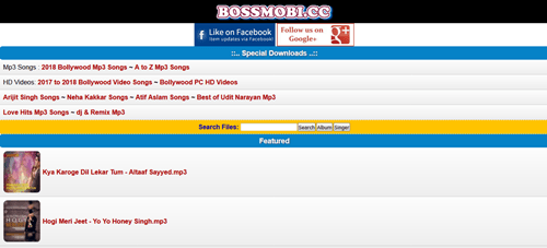 Bossmobi – Bollywood A To Z Movies Free MP3 Songs Download