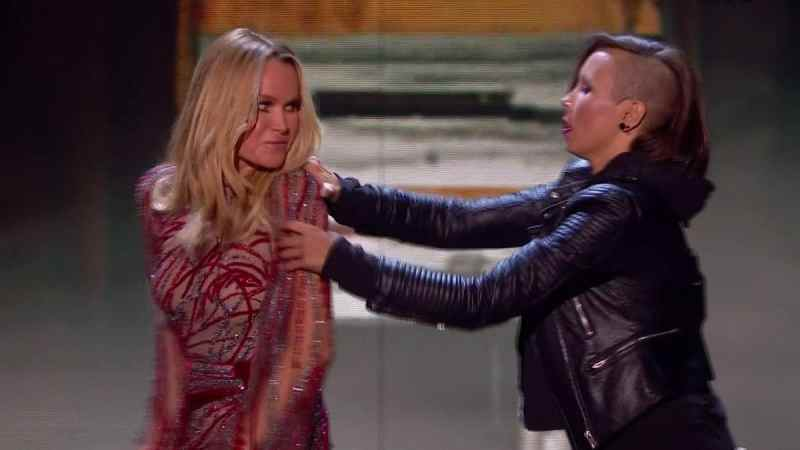 Britain's Got Talent 2019 live show 1 - Amanda Holden swears during The Haunting's performance