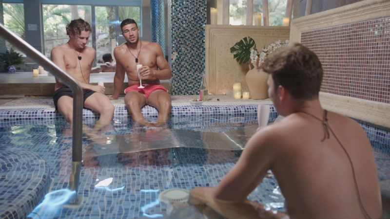 Joe, Tommy and Curtis at the spa.