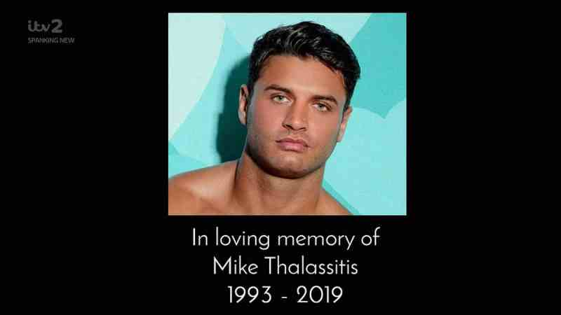 Tribute to Mike Thalassitis on Love Island 2019