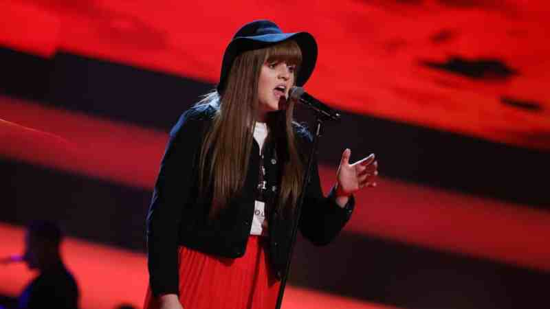 Aimee performs