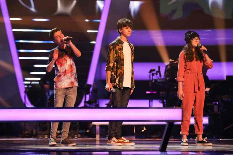 Team Danny: Ryan, Sam and Ivy perform.