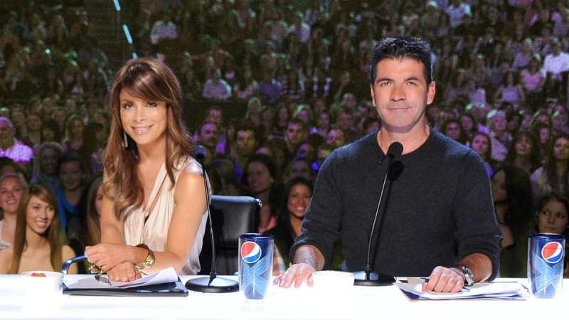 Paula Abdul and Simon Cowell on The X Factor USA