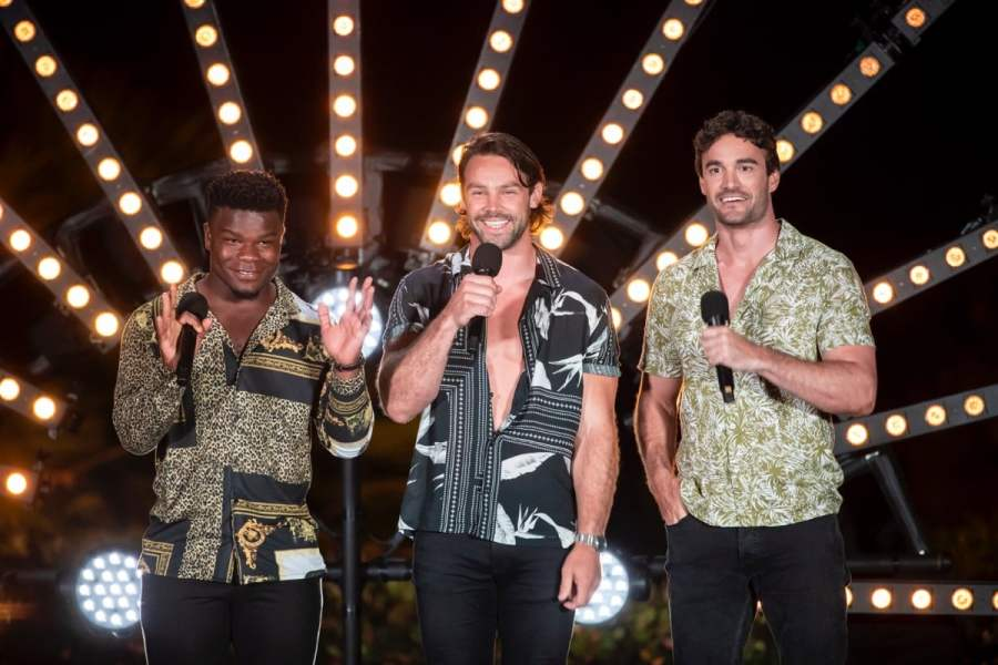 Try Star [Levi Davis, Ben Foden and Thom Evans].