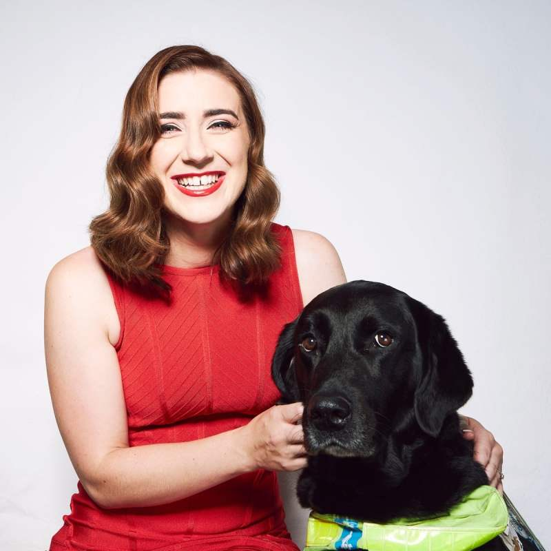 Libby Clegg MBE and her guide dog Hattie