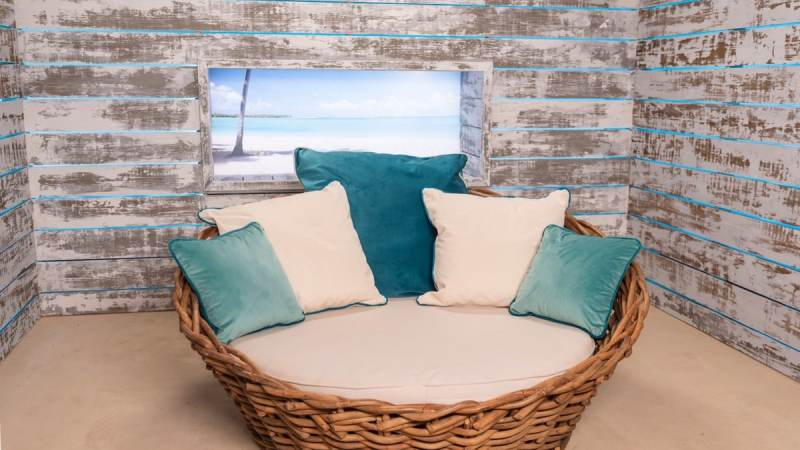 The Love Island villa: The beach hut