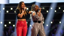 Team Will: Alia Lara and Lucy Calcines perform.
