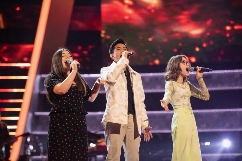 Team Danny: Gracie, Jarren and Daria perform.